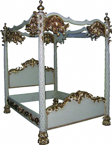 Four Poster Palm Design Bed